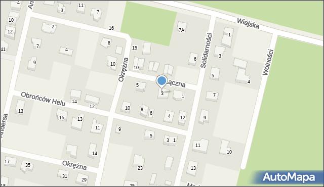 Kębłowo, Łączna, 3, mapa Kębłowo