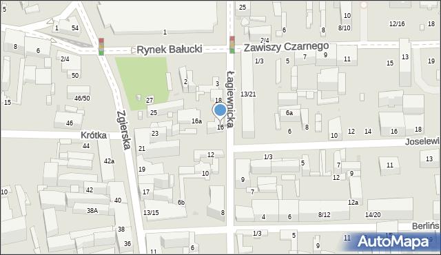Łódź, Łagiewnicka, 16, mapa Łodzi