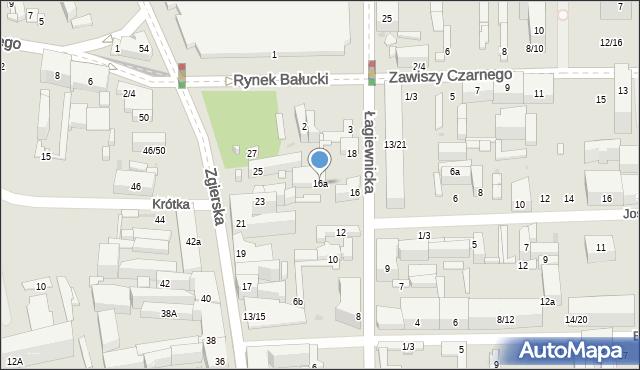 Łódź, Łagiewnicka, 16a, mapa Łodzi