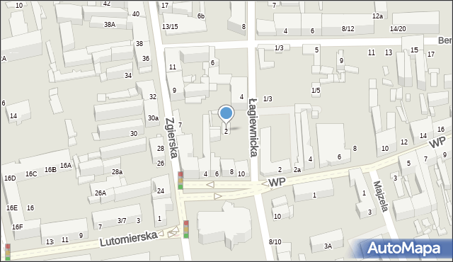 Łódź, Łagiewnicka, 2, mapa Łodzi