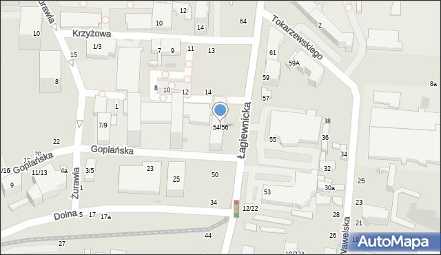 Łódź, Łagiewnicka, 54/56, mapa Łodzi