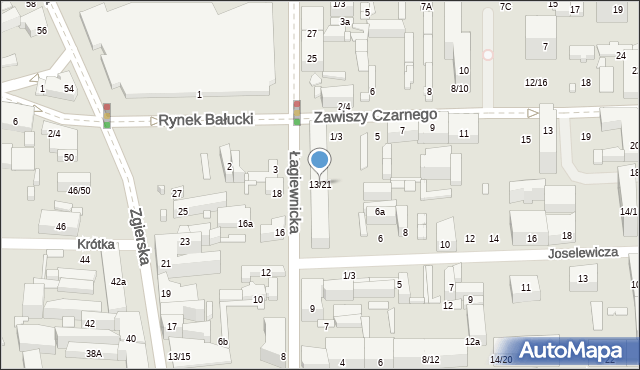 Łódź, Łagiewnicka, 13/21, mapa Łodzi