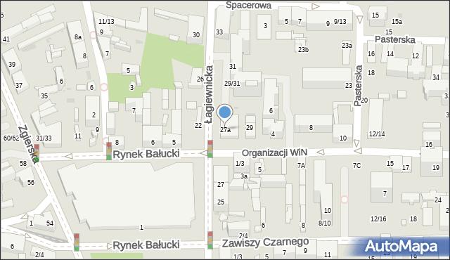 Łódź, Łagiewnicka, 27a, mapa Łodzi