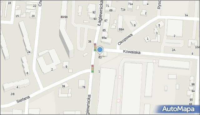 Łódź, Łagiewnicka, 63, mapa Łodzi