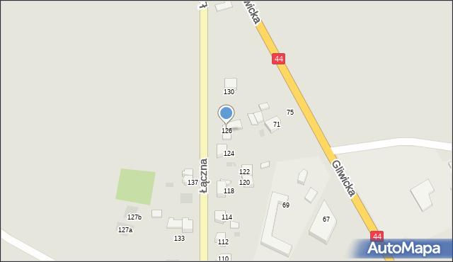 Mikołów, Łączna, 126, mapa Mikołów