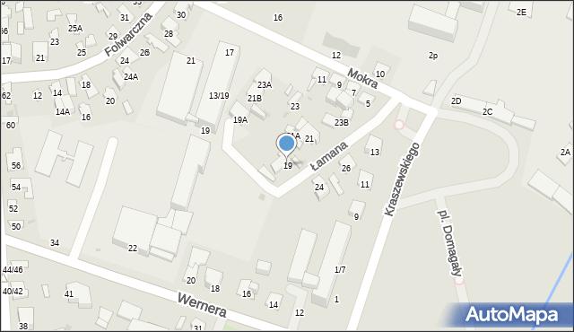 Radom, Łamana, 19, mapa Radomia