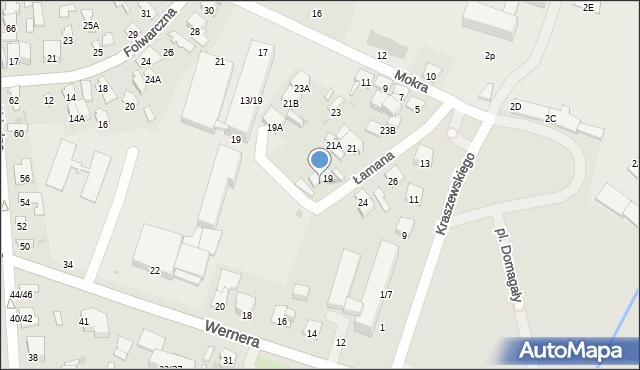 Radom, Łamana, 19B, mapa Radomia