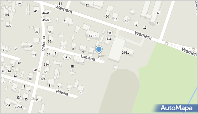 Radom, Łamana, 2, mapa Radomia