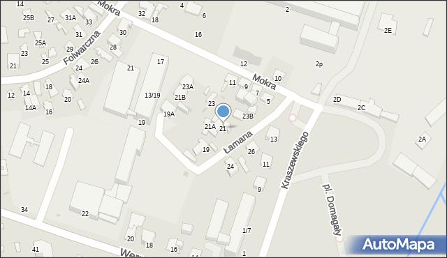 Radom, Łamana, 21, mapa Radomia