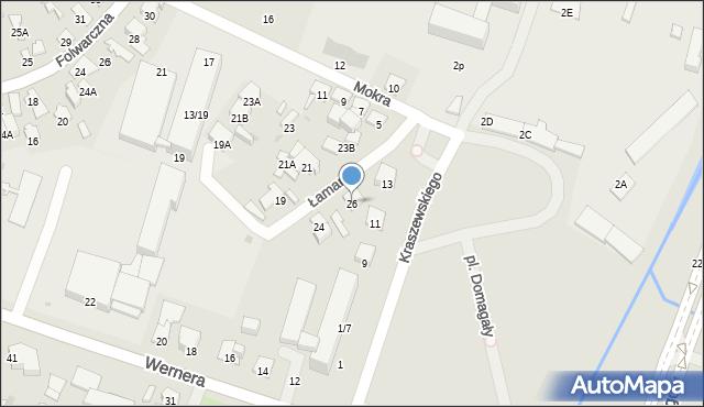 Radom, Łamana, 26, mapa Radomia
