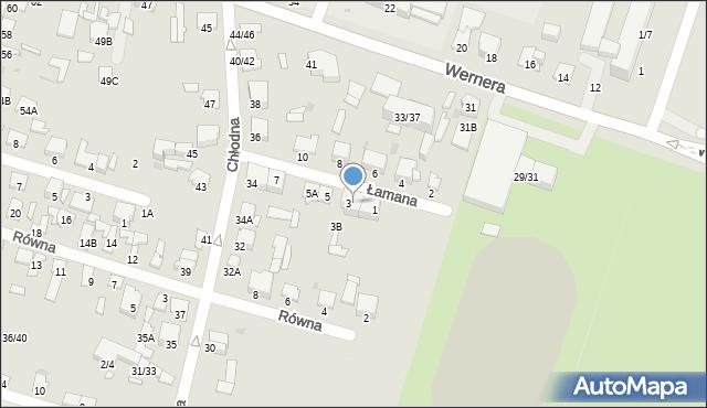 Radom, Łamana, 3A, mapa Radomia