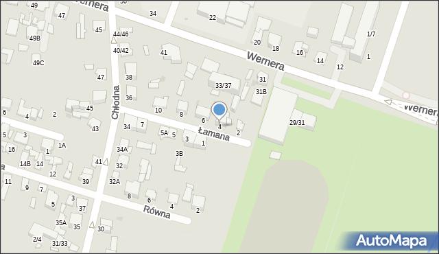 Radom, Łamana, 4, mapa Radomia