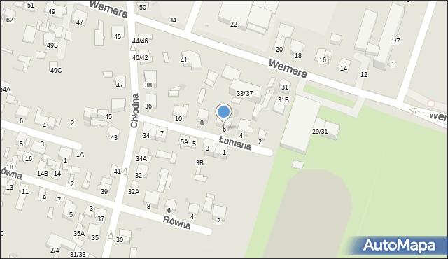 Radom, Łamana, 6, mapa Radomia