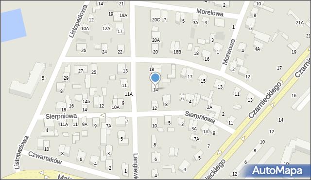 Radom, Langiewicza Mariana, gen., 14, mapa Radomia