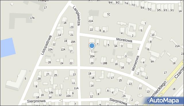 Radom, Langiewicza Mariana, gen., 20B, mapa Radomia