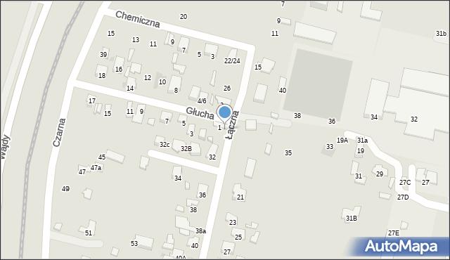 Radom, Łączna, 30, mapa Radomia