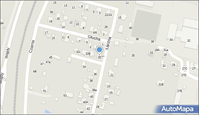 Radom, Łączna, 32, mapa Radomia