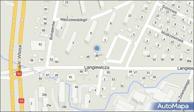 Rzeszów, Langiewicza Mariana, gen., 46, mapa Rzeszów