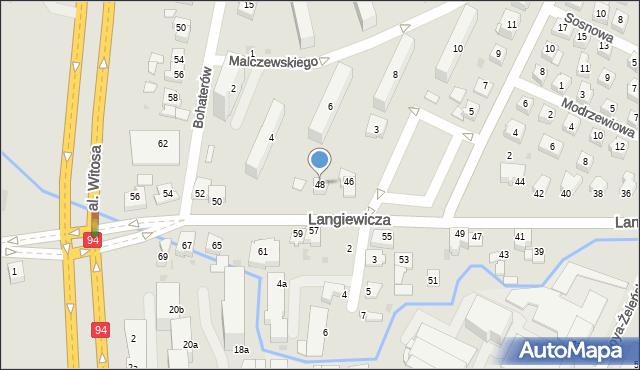 Rzeszów, Langiewicza Mariana, gen., 48, mapa Rzeszów