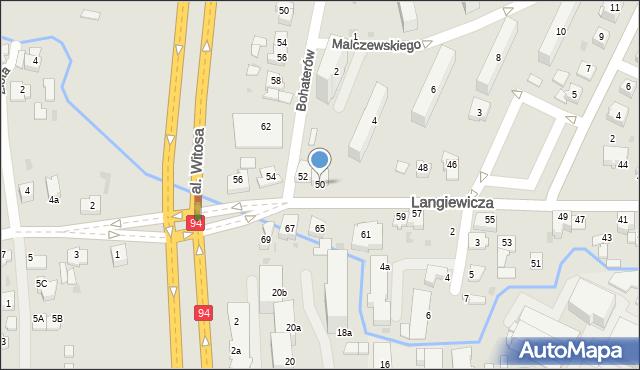 Rzeszów, Langiewicza Mariana, gen., 50, mapa Rzeszów