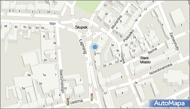 Słupsk, Łajming Anny, 5, mapa Słupska