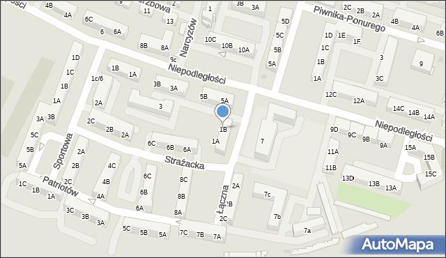 Sosnowiec, Łączna, 1B, mapa Sosnowca