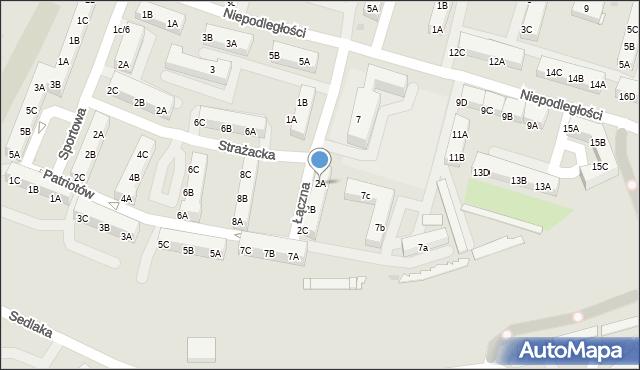 Sosnowiec, Łączna, 2A, mapa Sosnowca