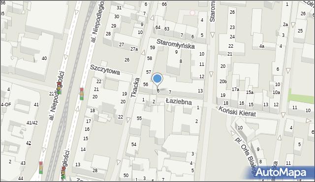 Szczecin, Łaziebna, 6, mapa Szczecina