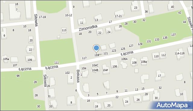 Toruń, Łączna, 119, mapa Torunia