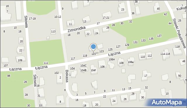 Toruń, Łączna, 121, mapa Torunia