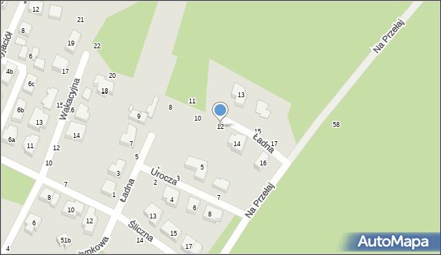 Toruń, Ładna, 12, mapa Torunia
