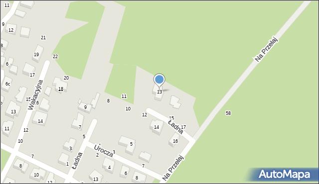 Toruń, Ładna, 13, mapa Torunia