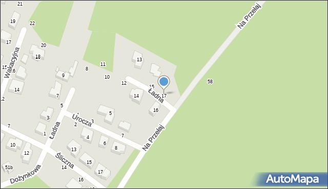 Toruń, Ładna, 17, mapa Torunia