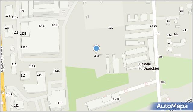 Toruń, Łąkowa, 40a, mapa Torunia