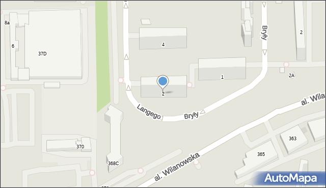 Warszawa, Langego Oskara, 2, mapa Warszawy