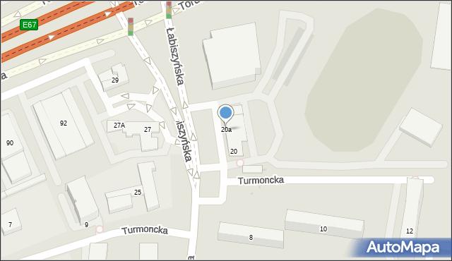 Warszawa, Łabiszyńska, 20a, mapa Warszawy