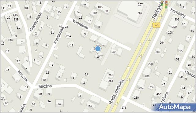 Warszawa, Łasińska, 19, mapa Warszawy