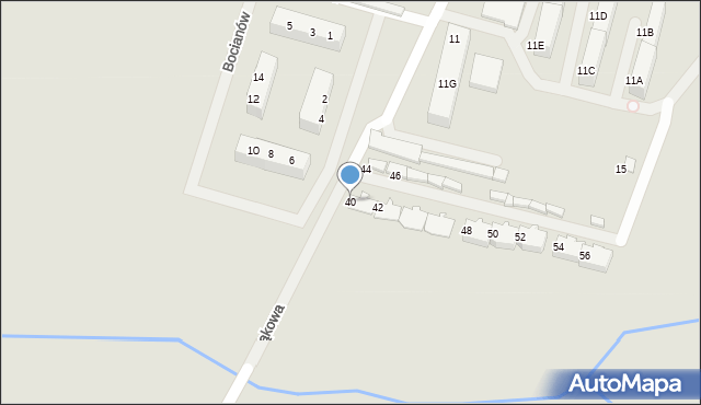 Zabrze, Łąkowa, 40, mapa Zabrza