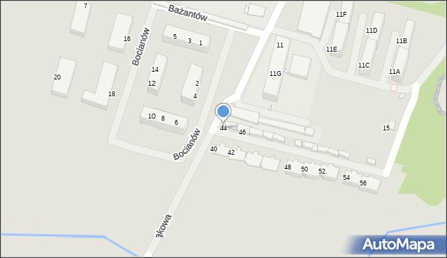 Zabrze, Łąkowa, 44, mapa Zabrza