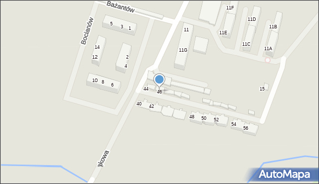 Zabrze, Łąkowa, 46, mapa Zabrza