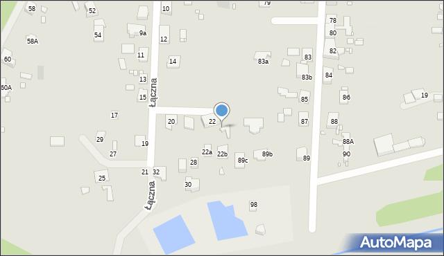 Zabrze, Łączna, 22a, mapa Zabrza