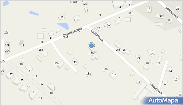 Żółtańce-Kolonia, Lazurowa, 11b, mapa Żółtańce-Kolonia