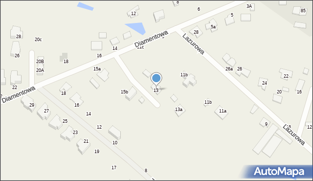 Żółtańce-Kolonia, Lazurowa, 13, mapa Żółtańce-Kolonia