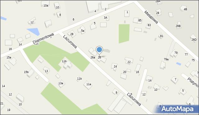 Żółtańce-Kolonia, Lazurowa, 26, mapa Żółtańce-Kolonia