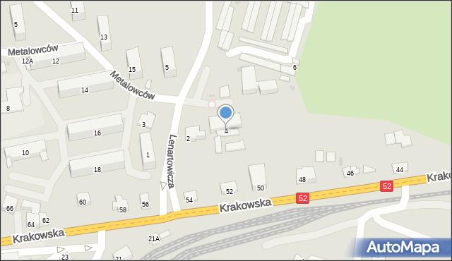 Andrychów, Lenartowicza Stanisława, 4, mapa Andrychów