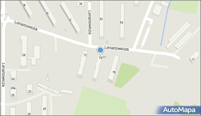 Andrychów, Lenartowicza Stanisława, 74, mapa Andrychów