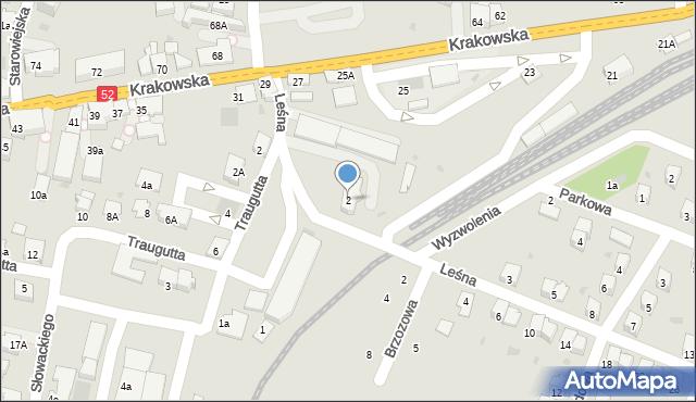 Andrychów, Leśna, 2, mapa Andrychów