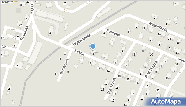 Andrychów, Leśna, 3, mapa Andrychów