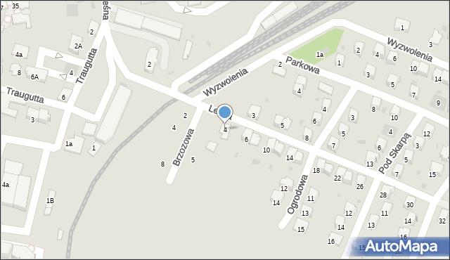 Andrychów, Leśna, 4, mapa Andrychów