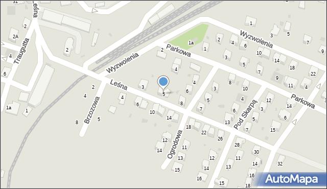 Andrychów, Leśna, 5, mapa Andrychów